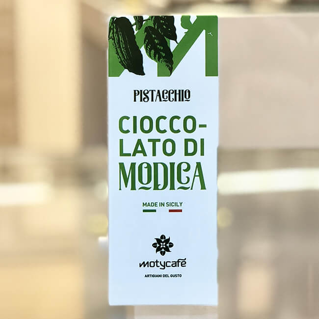 Chocolate of Modica with pistachios