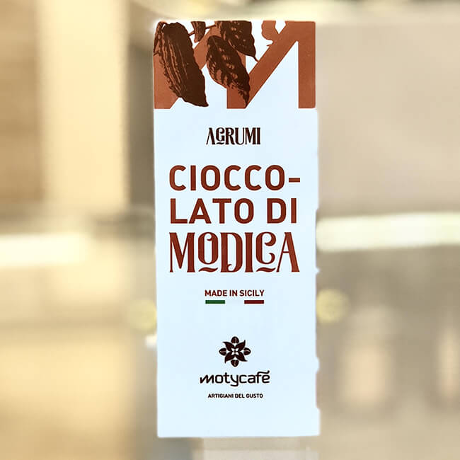 Chocolate of Modica with local mixed fruit